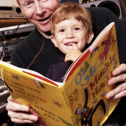 Reading to my son 2002