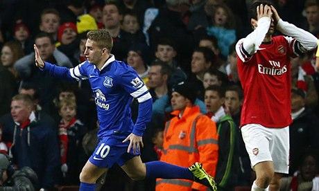Everton's Gerard Deulofeu celebrates
