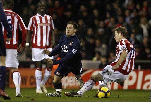 Aaron Ramsey Stoke injury