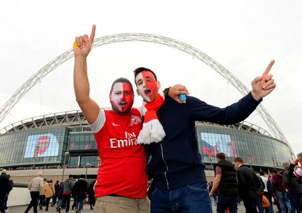 Arsenal fans wembley