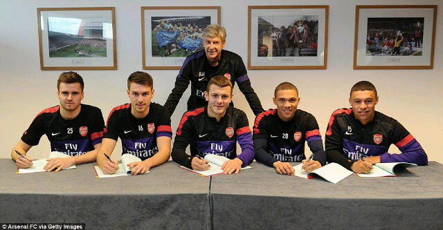 Arsenal have a fine blend in Ramsey, Wilshere and Chamberlain.