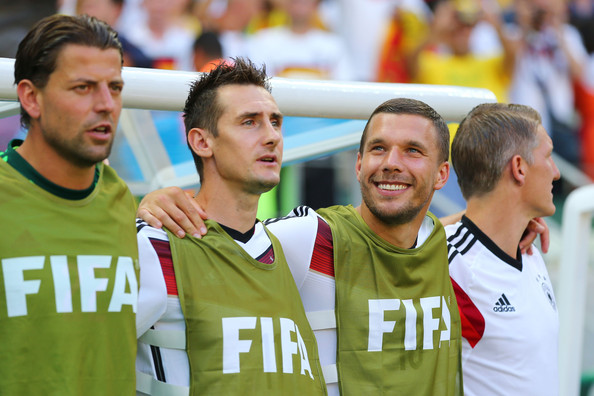 Poldi - Always smiling and encouraging even from the bench