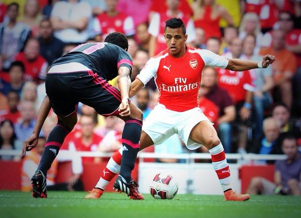 Yes he plays for Arsenal - Sanchez cameo