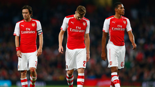 Rosicky displayed the kind of rookie moment you would expect from Chambers or Hayden