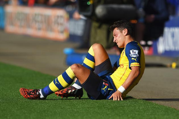 Ozil was played out of position before becoming injured