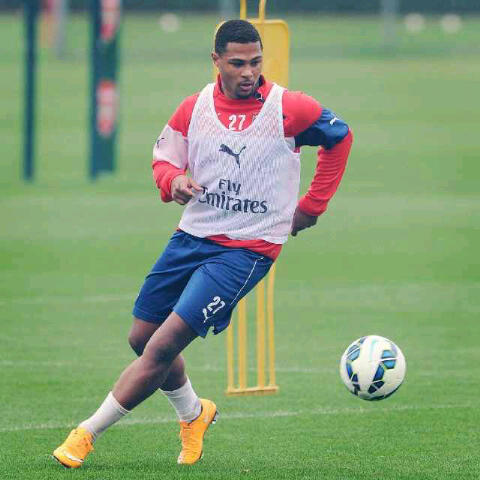Gnabry eventually will push Ox to the middle.