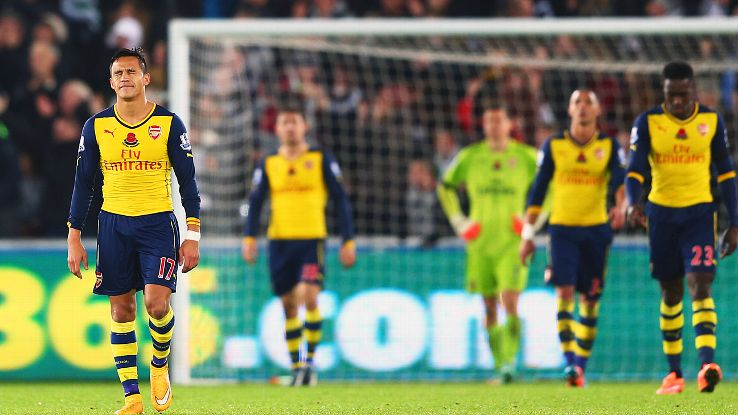 Despite Sanchez's goal, it was another disappointing day for Arsenal