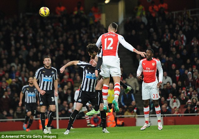 Giroud proves a worthy target...