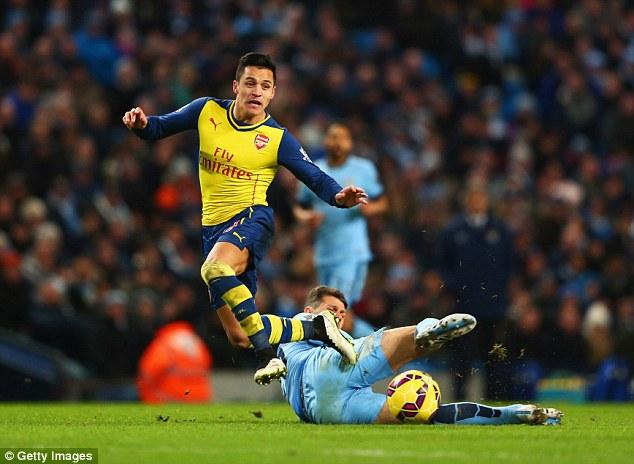 Alexis makes his presence felt up top...