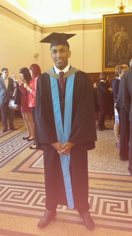 Ryan Rocastle graduating with his journalism degree