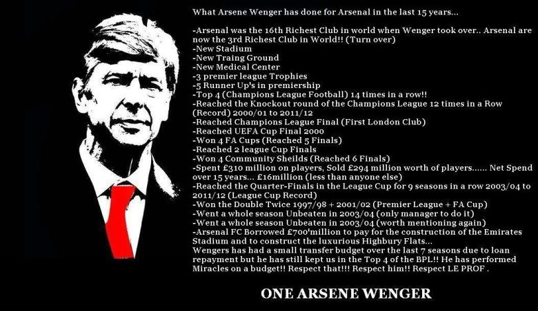Did Spurs have a manager even remotely close to Arsene Wenger?