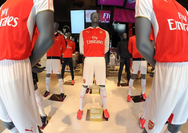 Home shirts on sale at The Armoury