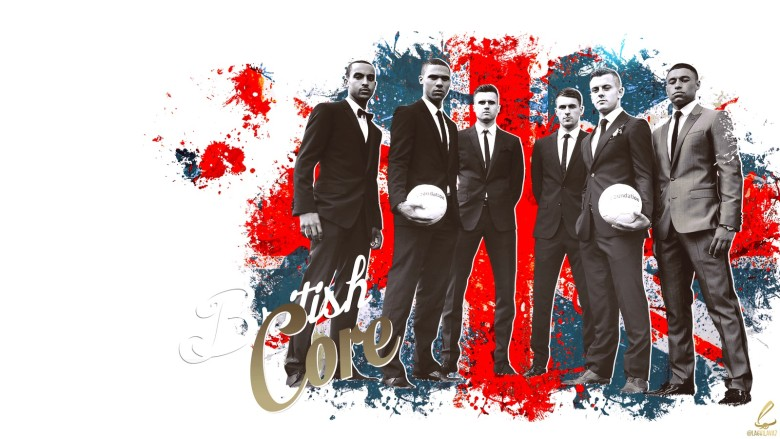 Arsenal's British Core - incredible image by @Lagvilava