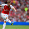 LONDON, ENGLAND - AUGUST 09:  Aaron Ramsey of Arsenal shoots just wide during the Barclays Premier League match between Arsenal and West Ham United at the Emirates Stadium on August 9, 2015 in London, England.  (Photo by Mike Hewitt/Getty Images)