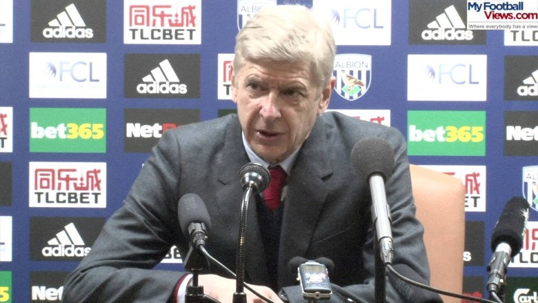 Wenger after WBA defeat - Same poor excuse 2 weeks in a row??