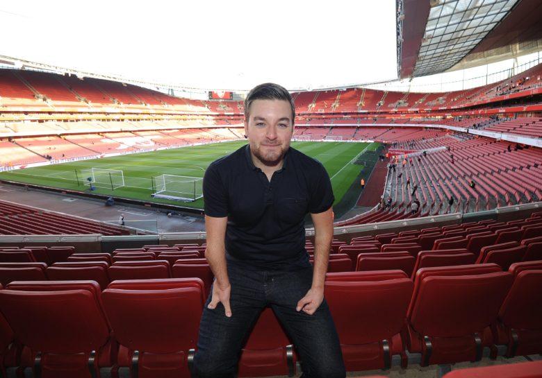Brooker at Emiates (thanks to David Price and Arsenal FC)