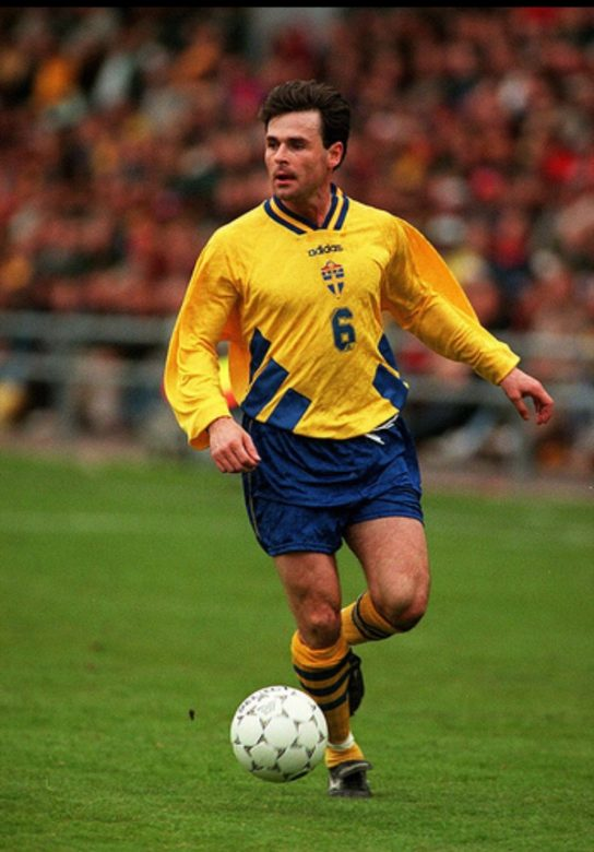 Anders who won 58 caps, on international duty with Sweden
