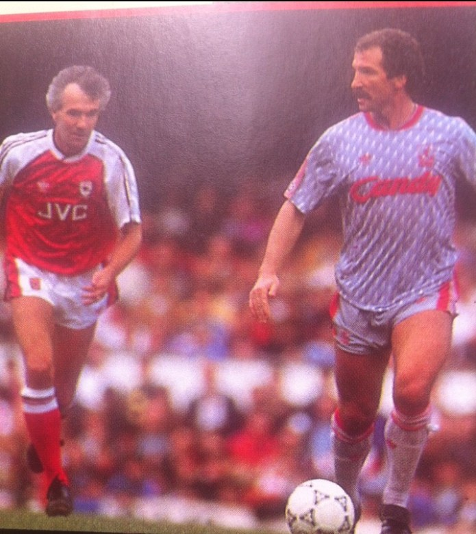 Sammels closing in on Souness in the Ray Kennedy Benefit Match