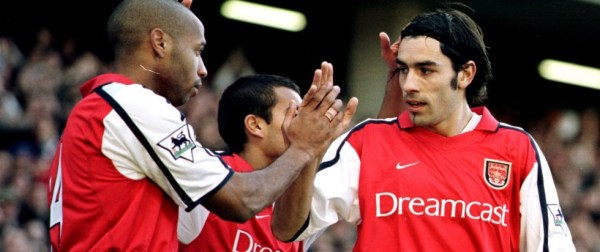 Robert with fellow Frenchman Thierry Henry