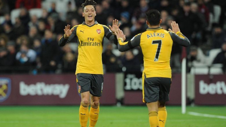 Inseparable. Unstoppable. Ozil and Alexis.