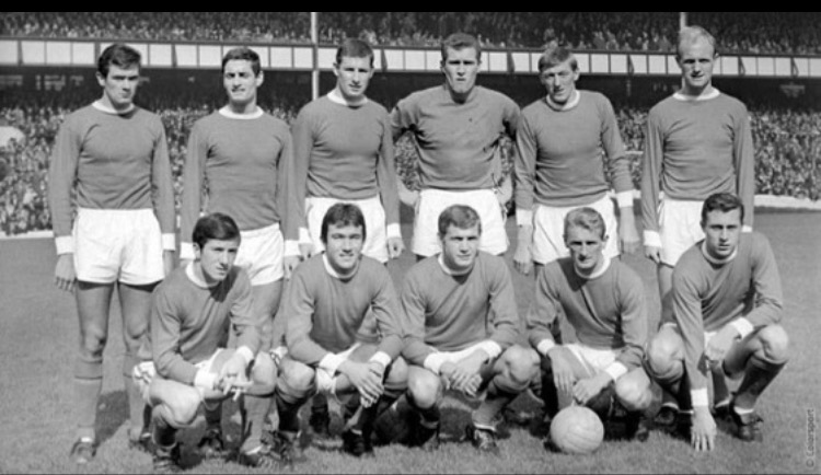 An early team photo with Geordie and some other familiar faces