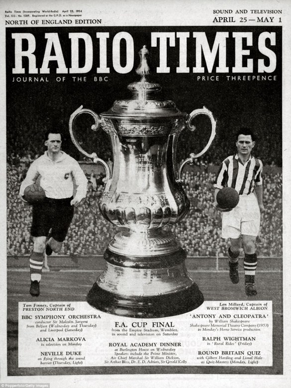 Radio Times front cover, showing the raised profile of football coverage Photo Credit: Popperfoto/Getty Images
