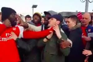 Fans fight
