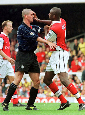 Vieira and Keane clash