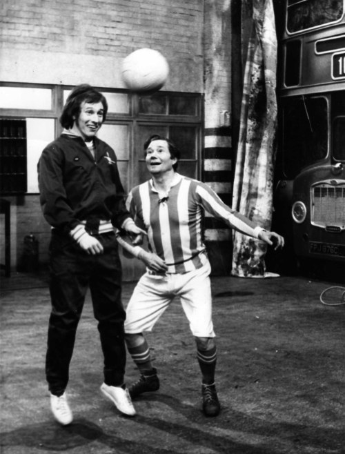 Bob with Reg Varney in an episode of On the Buses