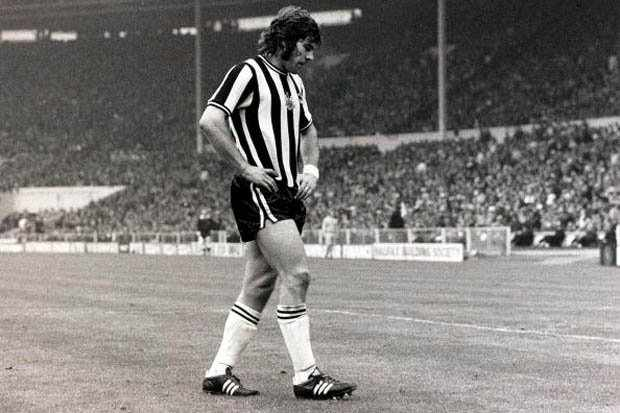 Supermac walks off the Wembley pitch shattered by the 3-0 defeat to Liverpool