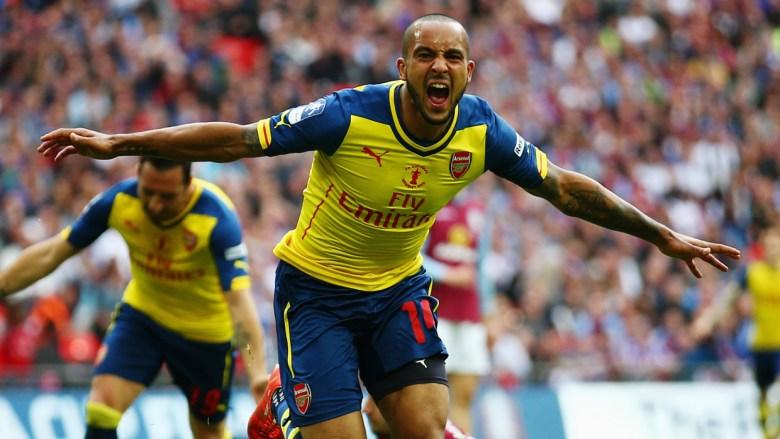 Theo Celebrates FA Cup 2015