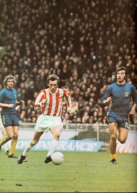 George glides away from Alan Hudson in the 1972 League Cup Final