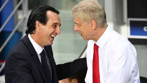 Unai Emery with the man he is set to replace