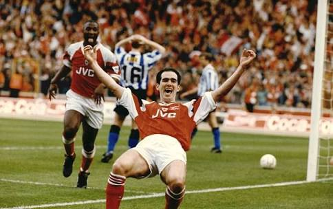 The legendary Steve Morrows gives Arsenal the lead in 1993
