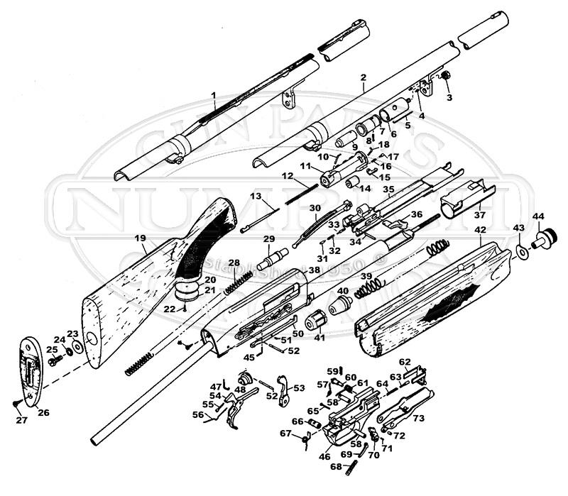 Schematic Ithaca Double Barrel Shotguns