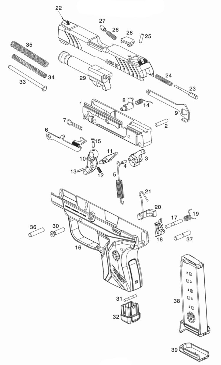 Ruger Lcp Ii Parts