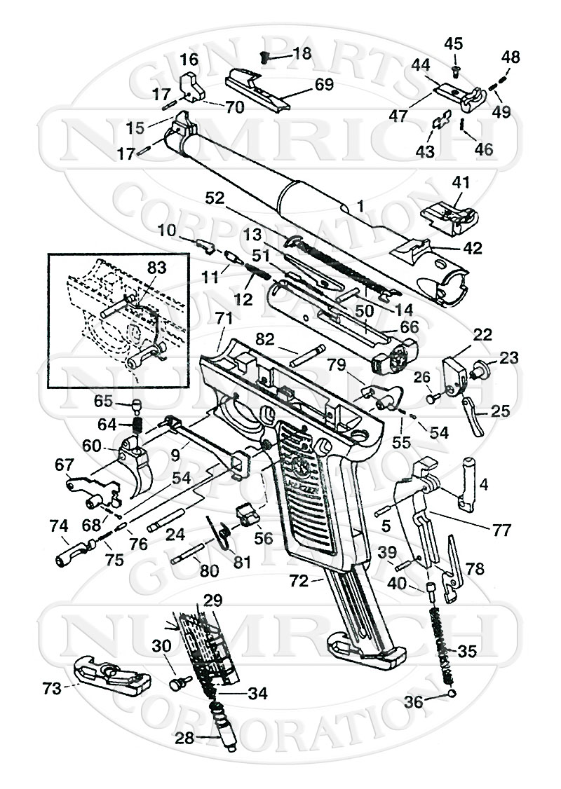 Ruger Mkii 22 45 Parts