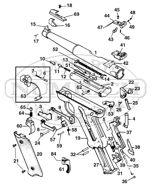 Exploded View Ruger Mark Ii