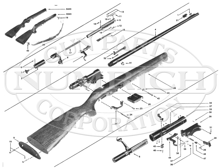 Winchester 94 Parts Schematic