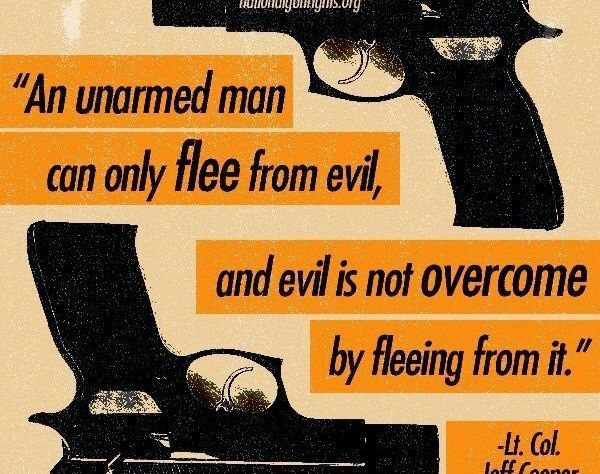 An Unarmed Man May Only Flee Evil. But Evil is Not Overcome by Fleeing