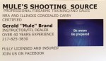 Mule's Shooting Source
