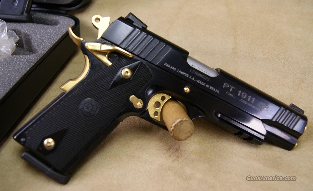 Taurus Polished Blue Black Grip Gold Accen For Sale