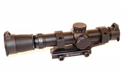 The Leupold design is classic AR tactical, with 1.5-5x magnification.
