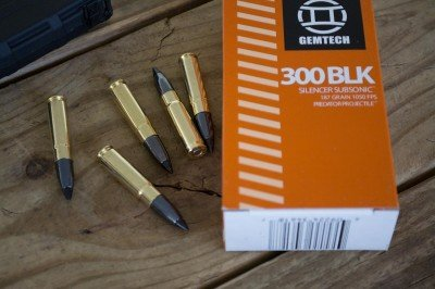 Even 300 Blackout ammo is cool like these Gemtech 187 grain subsonic rounds.