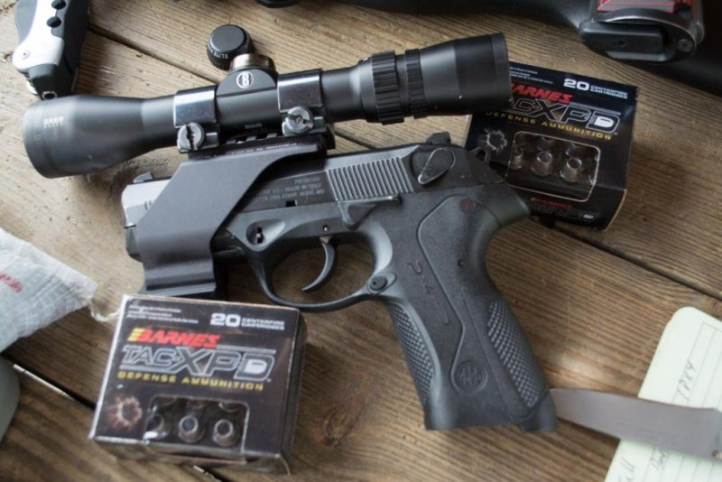 """I tested accuracy using a Bushnell Elite 3500 Handgun Scope in order to eliminate """"iron sight"""" error as much as possible."""