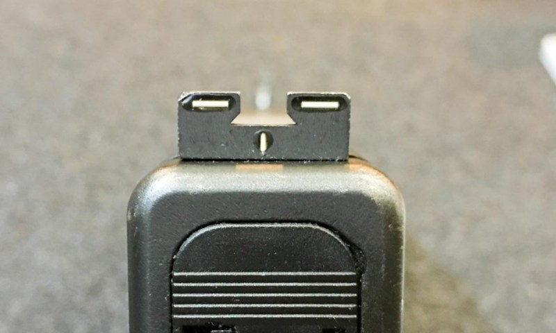 Note the cutouts on the rear Meprolight R4E sight.