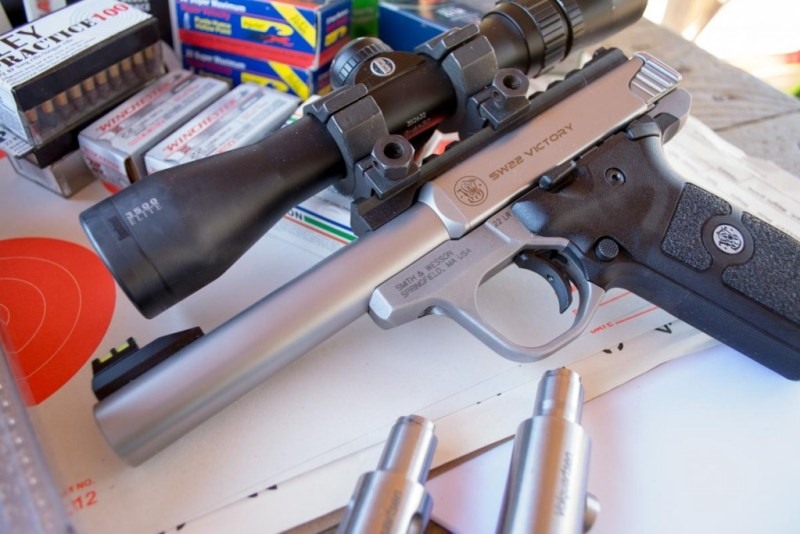 I tested accuracy with both the factory match barrel and the Volquartsen fluted barrel.