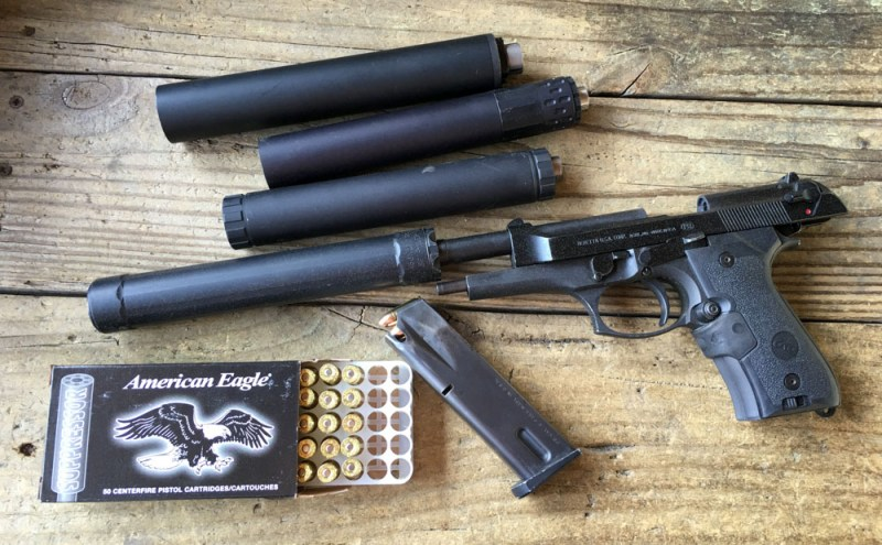 I've been testing it - a lot - with just a few different 9mm and .45 suppressors...