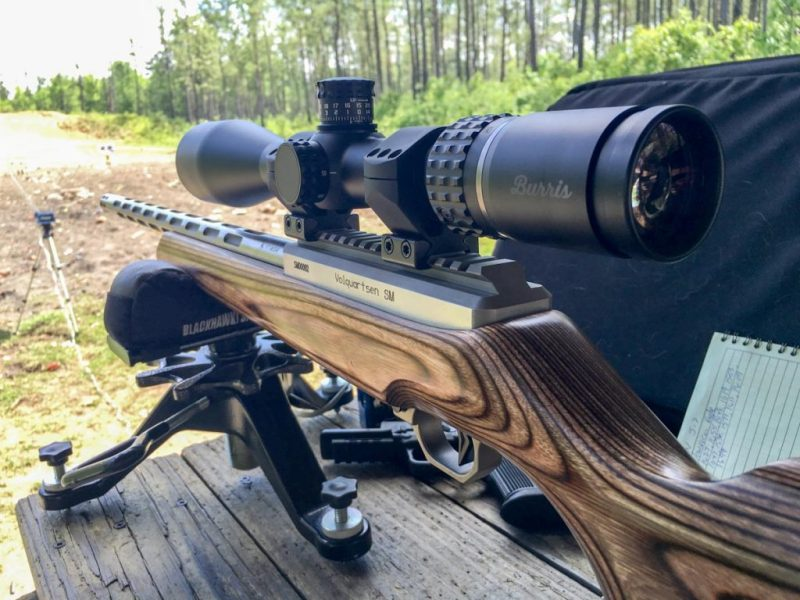 The test rifle for these examples was a Volquartsen 17 WSM Deluxe with a Burris Veracity 4-20x50 scope.