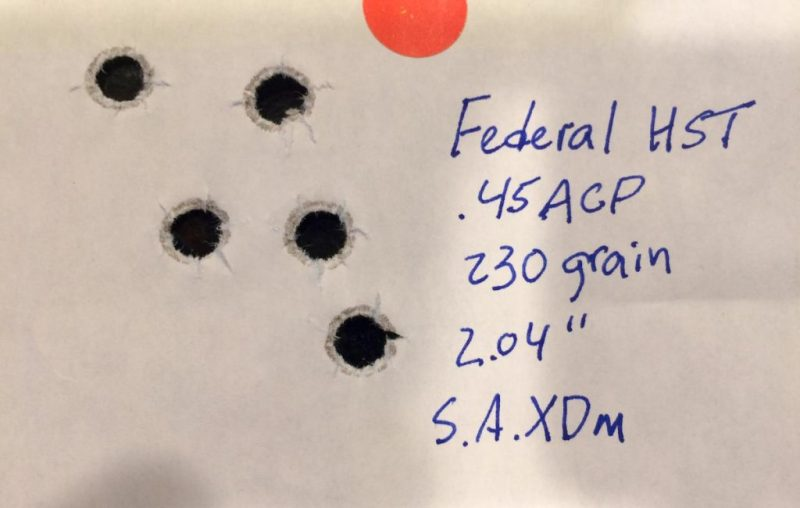 Accuracy was great with five-shot groups measuring just over two inches.